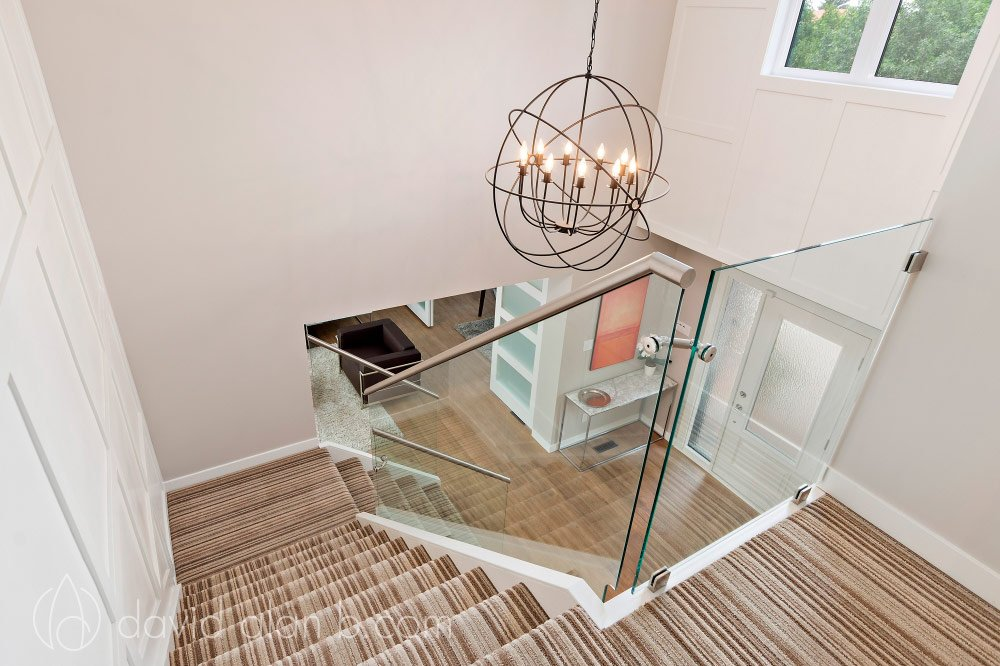 Winnipeg Home Renovation - Custom Glass Staircase