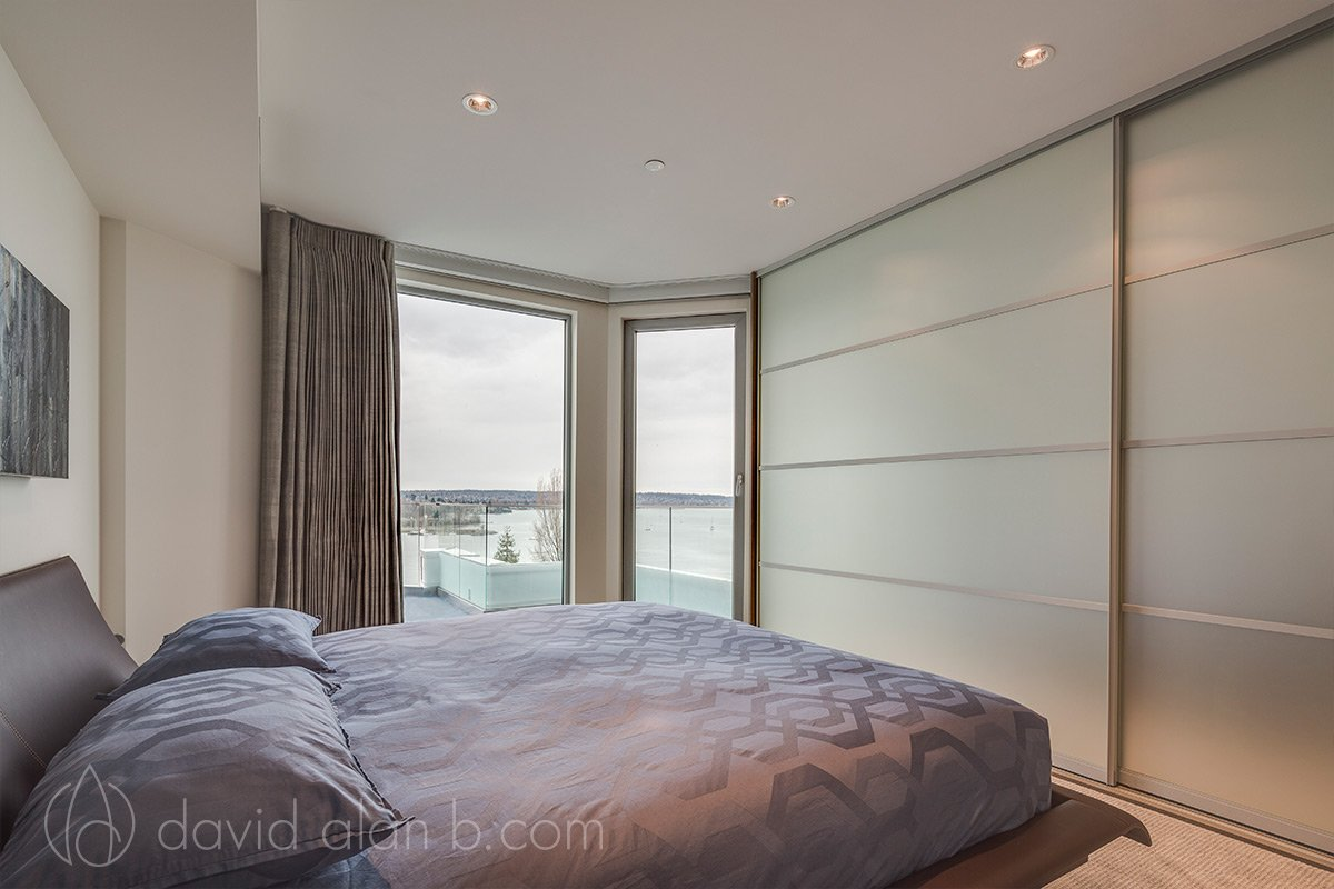 English Bay Penthouse Master Bedroom