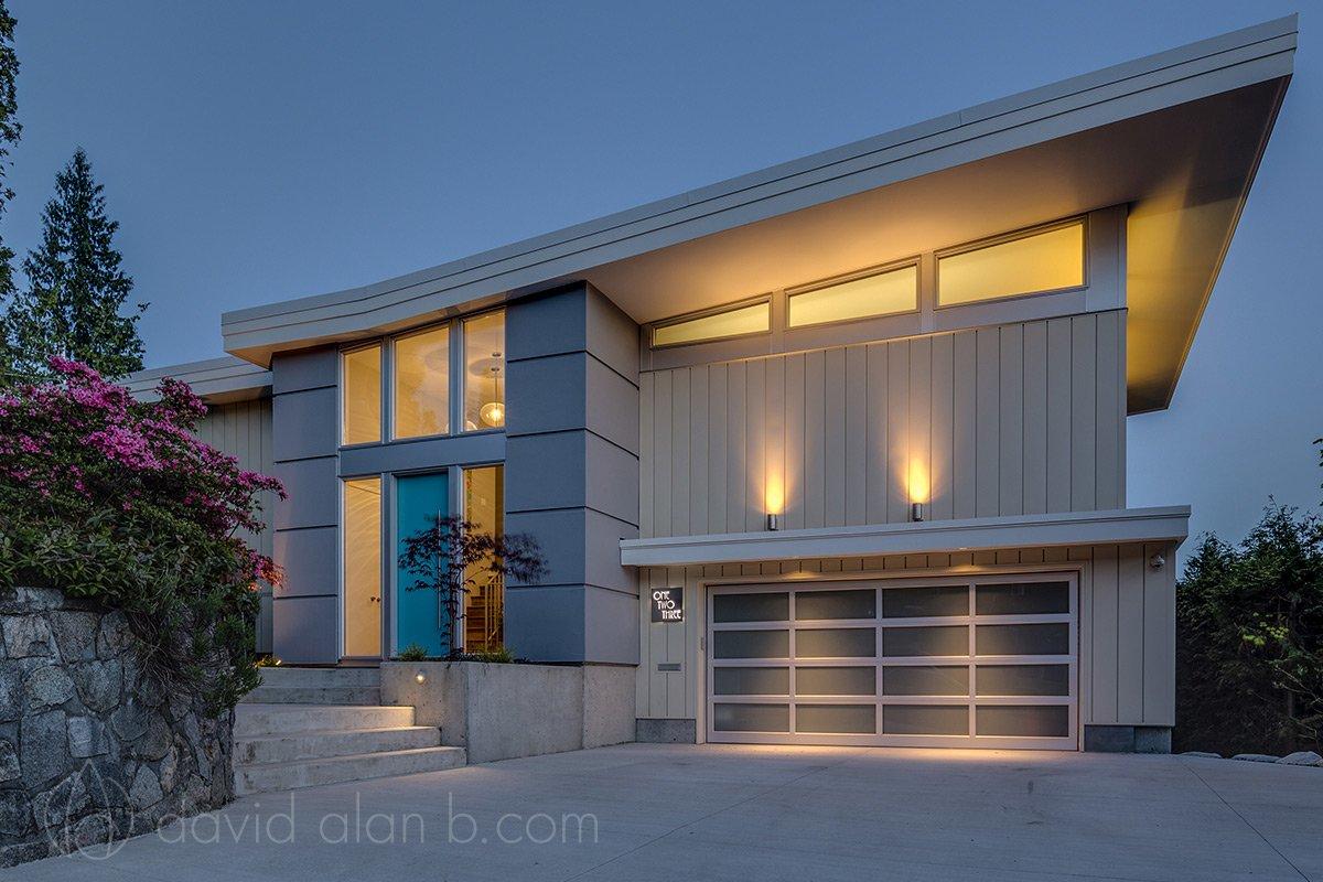 Mid Century Inspired Custom Home Exteriors David Alan B