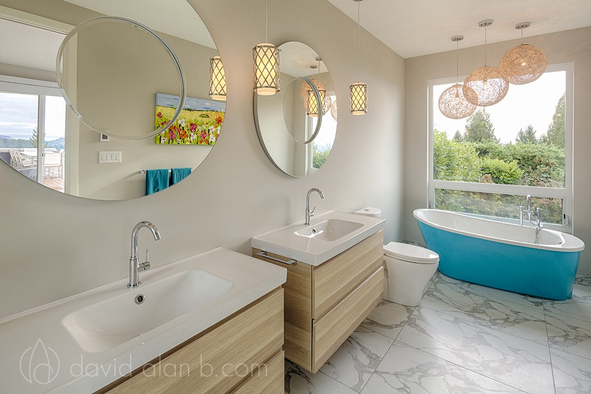 North Vancouver Custom Home Master Ensuite