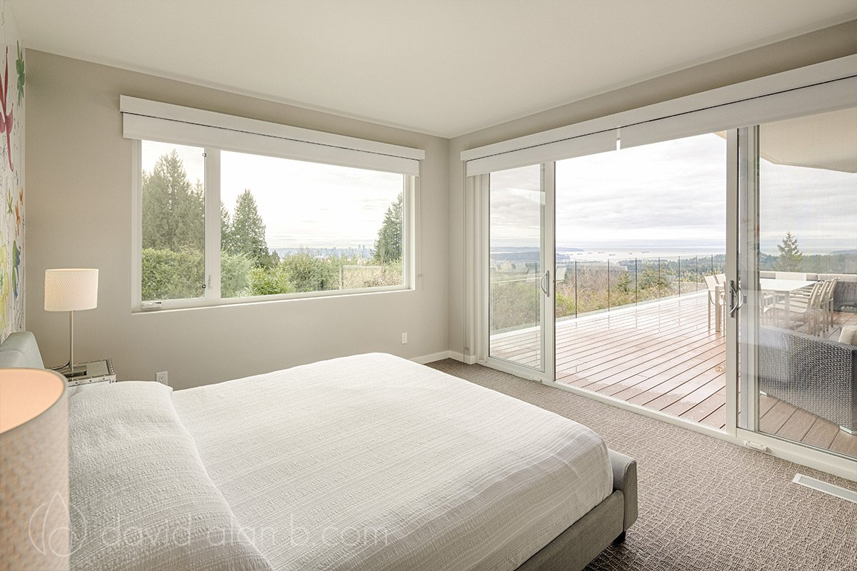North Vancouver Custom Home Master Bedroom