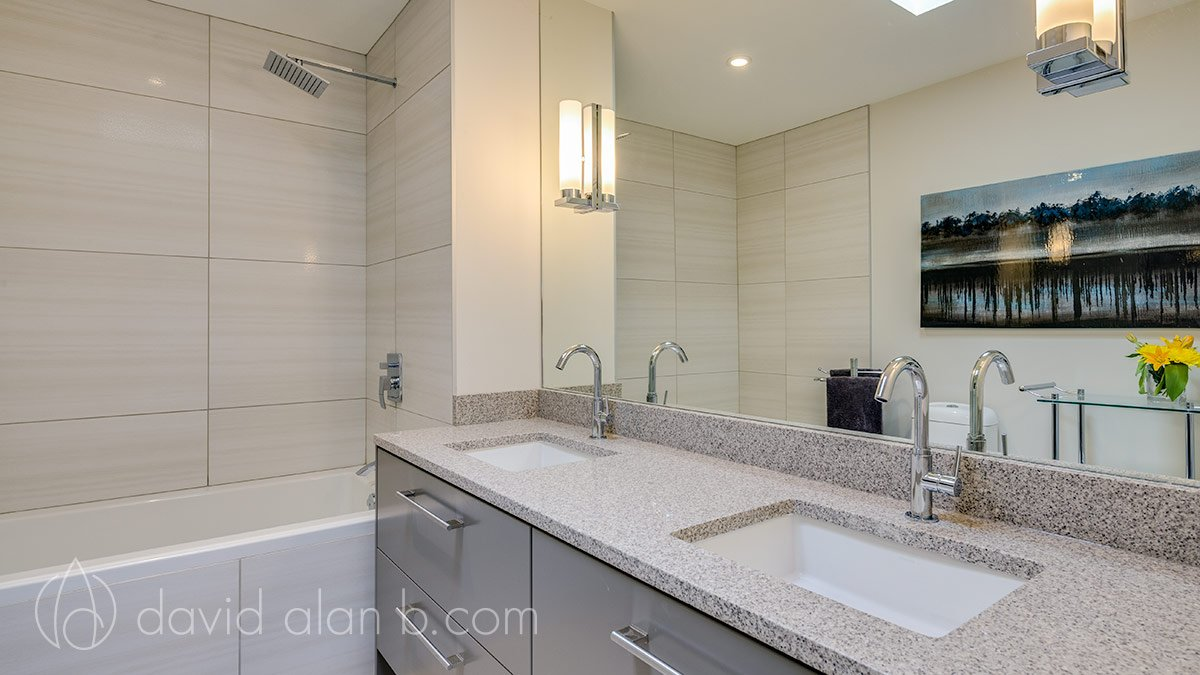 Two-Storey West Vancouver Renovation - Guest Bathroom