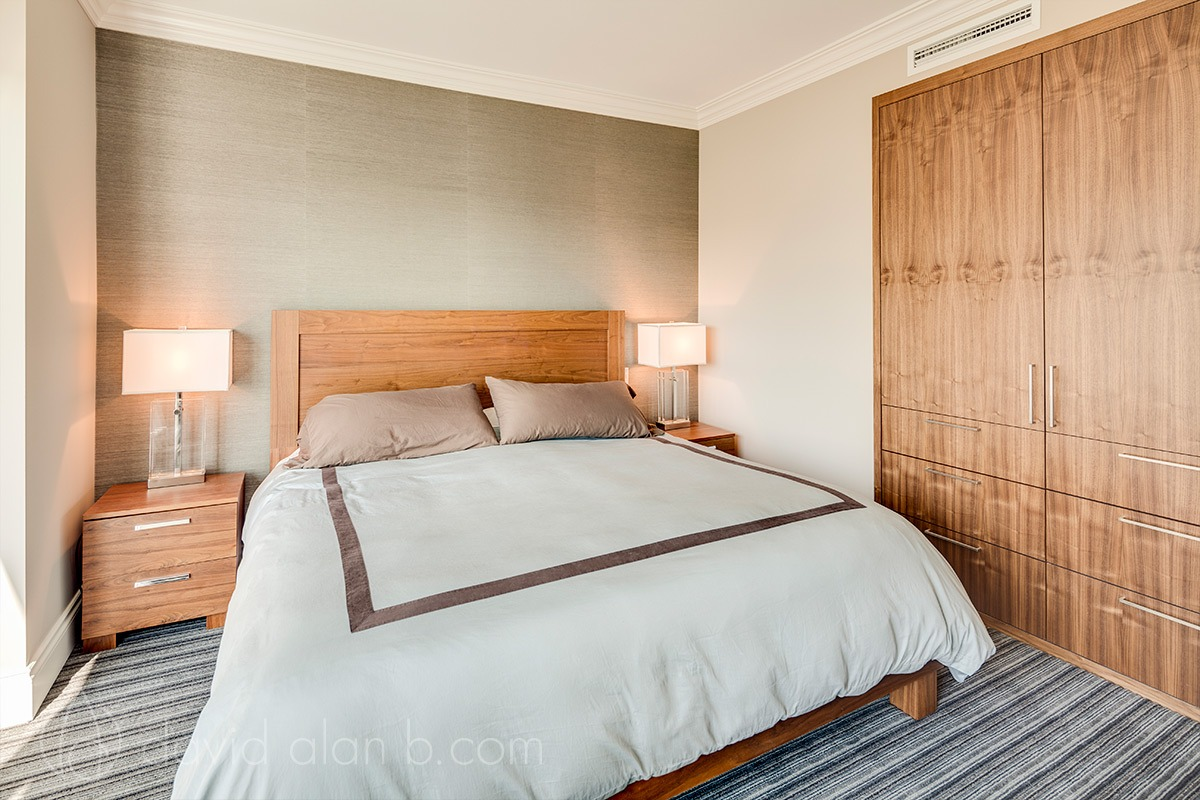 Yaletown, Vancouver - Master Bedroom - Custom Cabinetry