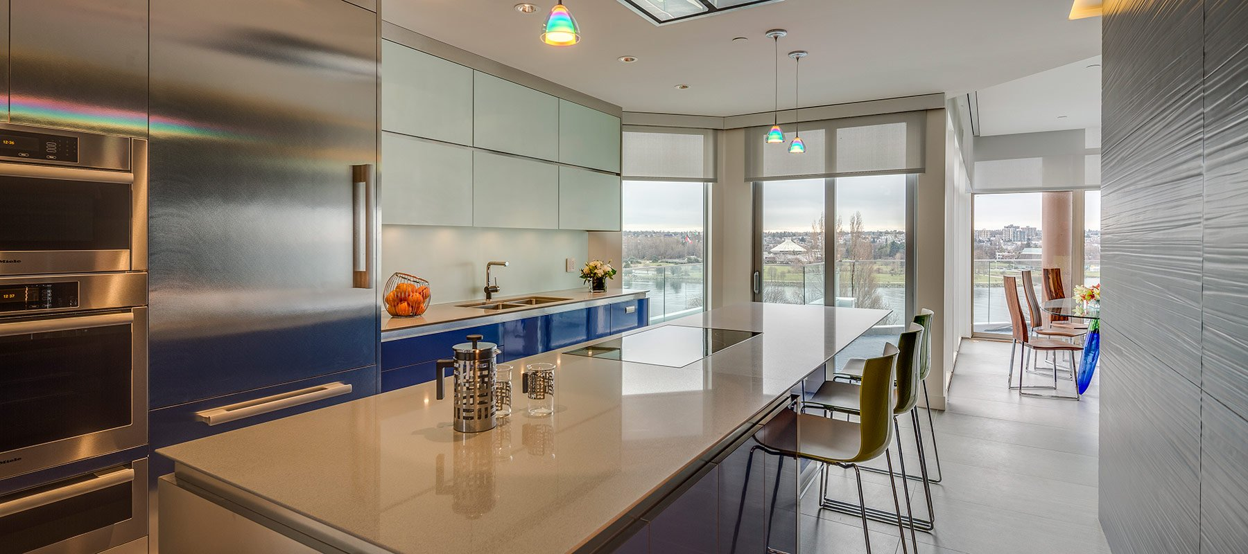 Custom Kitchen Design - Vancouver Penthouse