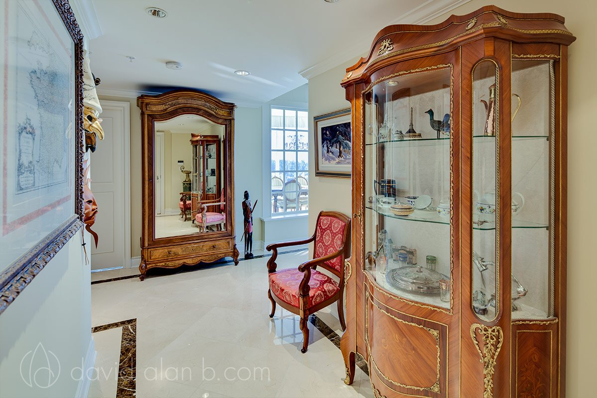 Parisian Inspired Hallway with Antiques - Vancouver Renovation and Design